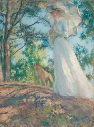 On Bos'n's Hill | Edmund C Tarbell | oil painting