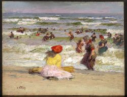 In the Surf | Edward H Potthast | oil painting