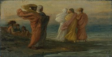 The Music Party | Elihu Vedder | oil painting