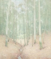 Wood Interior | Emil Carlsen | oil painting