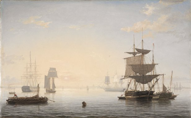 Boston Harbor | Fitz Henry Lane | oil painting