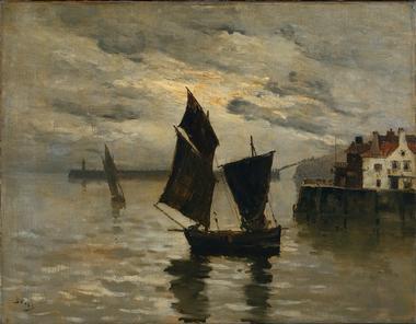 Harbor Scene | Frank Boggs | oil painting
