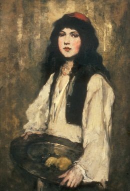 The Venetian Girl | Frank Duveneck | oil painting