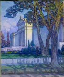 View of The Cleveland Museum of Art | Frederick C Gottwald | oil painting