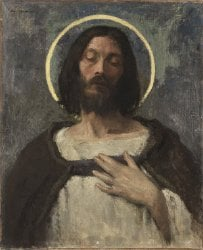 Christ | Gari Melchers | oil painting