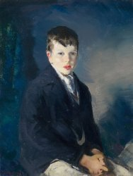 Boy in a Blue Coat | George Bellows | oil painting