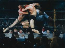 Stag at Sharkey's | George Bellows | oil painting
