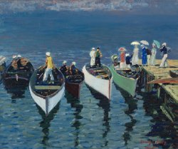 Holiday on the Hudson | George Benjamin Luks | oil painting