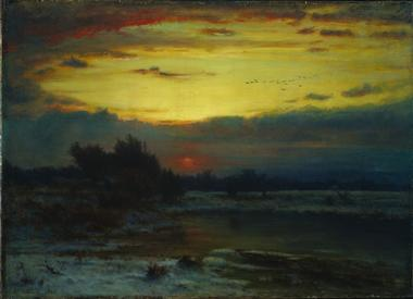 A Winter Sky | George Inness | oil painting