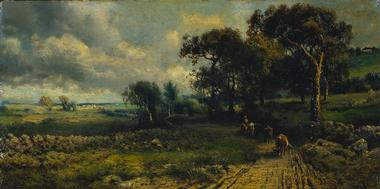 Fleecy Clouds | George Inness | oil painting