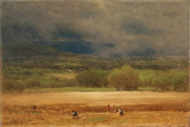 The Wheat Field | George Inness | oil painting