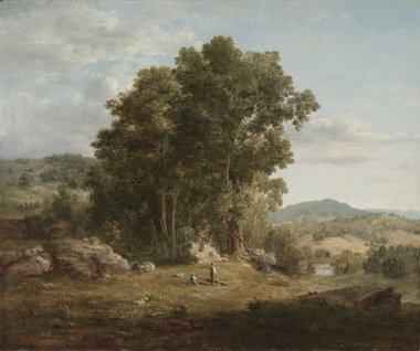 The Wood Chopper   George Inness   oil painting