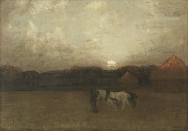 The Stubble Field   Henry Golden Dearth   oil painting