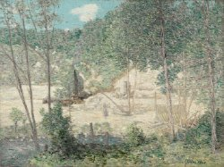 The Building of the Dam | J Alden Weir | oil painting