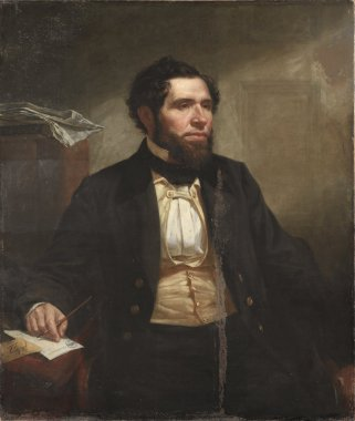 Frederic W Lincoln Jr   James Harvey Young   oil painting