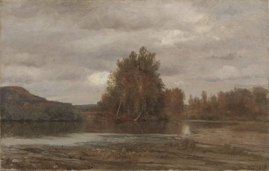 Gray Day on the Esopus | Jasper F Cropsey | oil painting