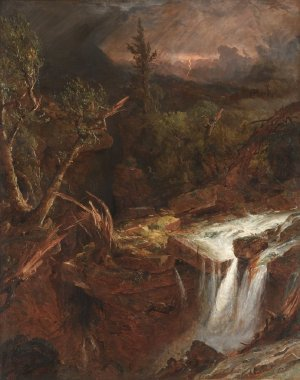 The Cove A Storm Scene in the Catskill Mountains | Jasper F Cropsey | oil painting