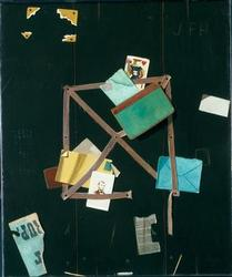 Card Rack with a Jack of Hearts | John F Peto | oil painting