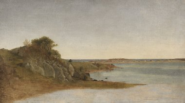 View near Newport | John Frederick Kensett | oil painting