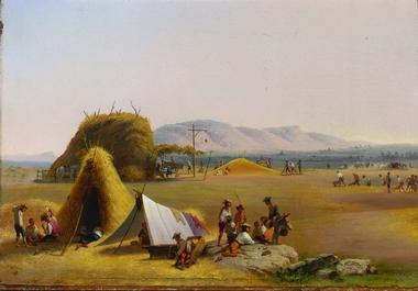 Harvest on the Roman Campagna   John Gadsby Chapman   oil painting