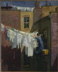 A Woman's Work | John Sloan | oil painting