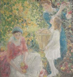 The Apple Gatherers | Karl Anderson | oil painting