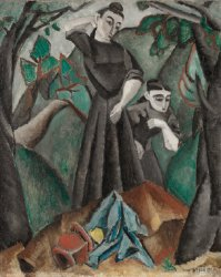 Two Women in a Landscape | Max Weber | oil painting