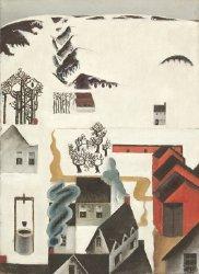 Mountain Farm in the Snow | Preston Dickinson | oil painting