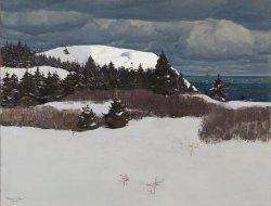 Maine Coast   Rockwell Kent   oil painting