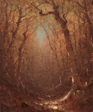 Autumn a Wood Path | Sanford Robinson Gifford | oil painting