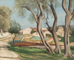 Behind the Village at Biot | Sidney Laufman | oil painting