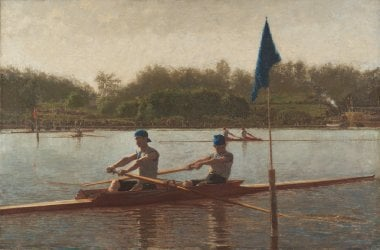 The Biglin Brothers Turning the Stake | Thomas Eakins | oil painting