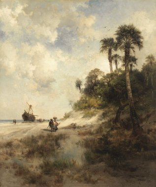 Fort George Island Florida | Thomas Moran | oil painting