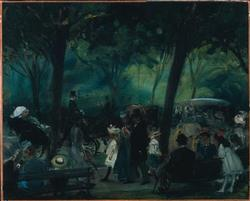 The Drive Central Park | William Glackens | oil painting
