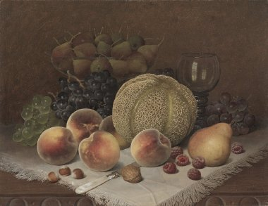 Still Life with Cantaloupe | William Mason Brown | oil painting
