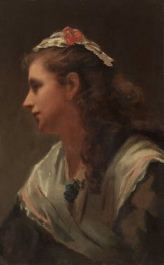 His First Model Miss Russell | William Morris Hunt | oil painting