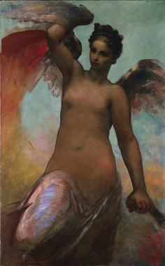 Winged Fortune | William Morris Hunt | oil painting