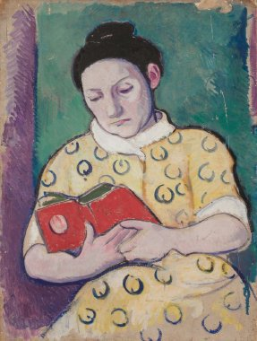Woman with a Book verso | William Sommer | oil painting