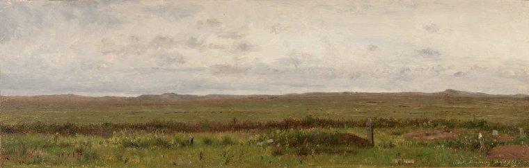 Graves of Travellers Fort Kearny Nebraska | Worthington Whittredge | oil painting
