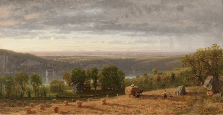 Landscape with Haywain | Worthington Whittredge | oil painting