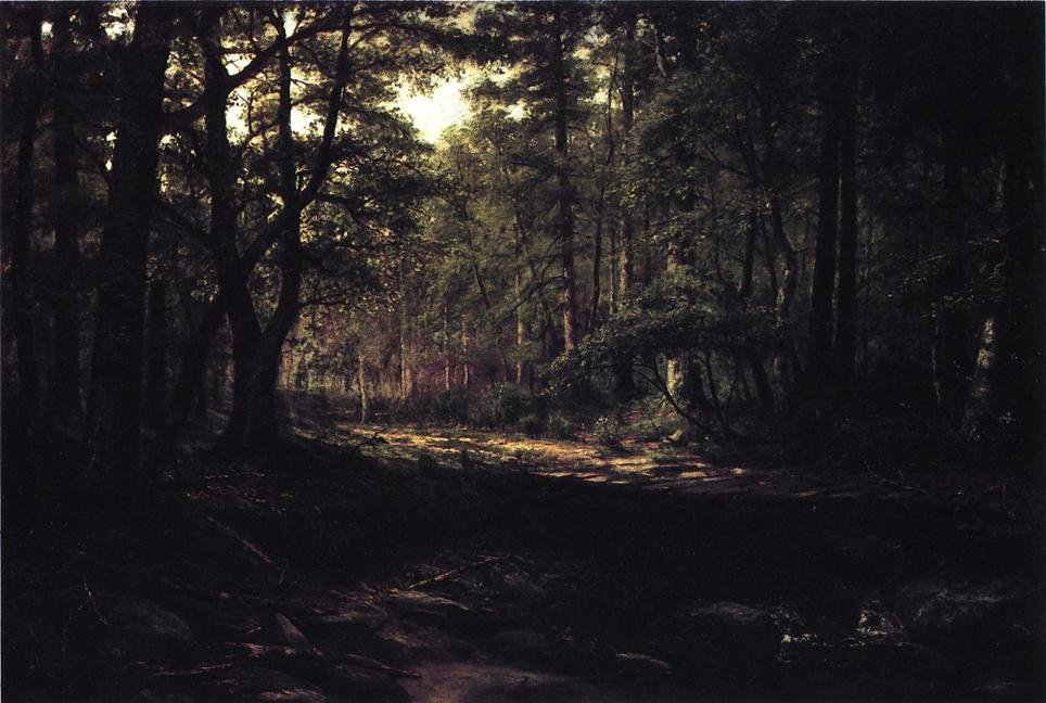 Corduroy Road aka Old Road Scalp Level 1887 | George Hetzel | oil painting