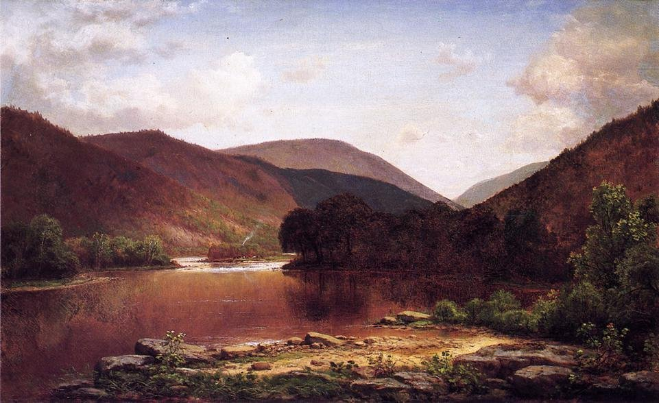 Farm with Grazing Cattle on the Conemaugh 1879 | George Hetzel | oil painting