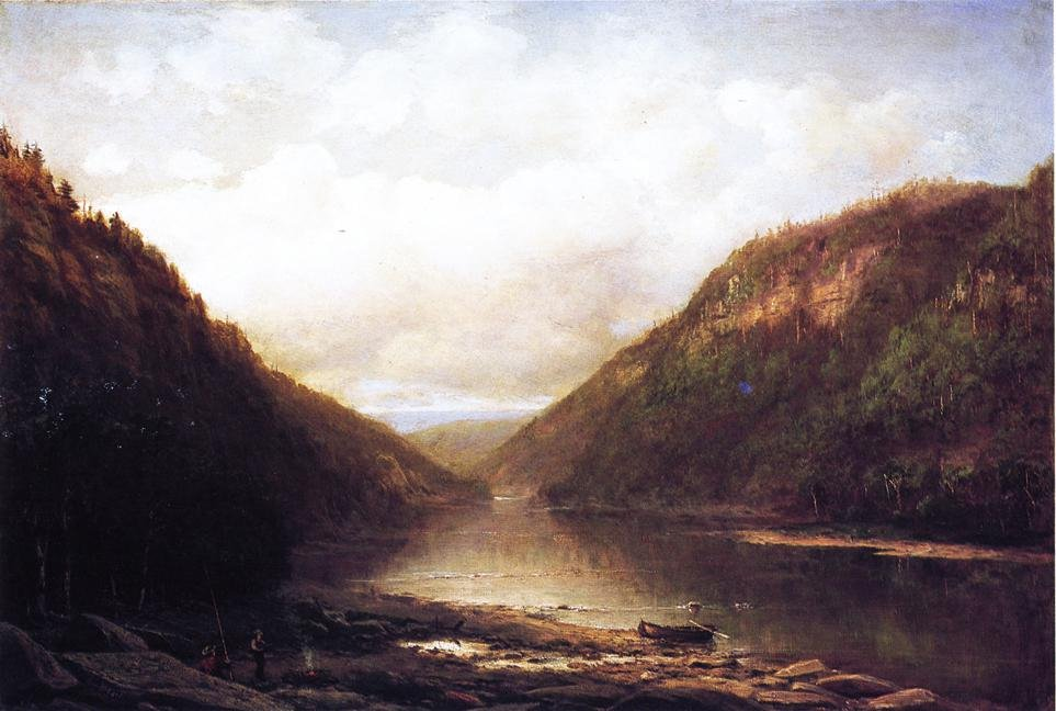 Fishing on the Conemaugh 1891 | George Hetzel | oil painting