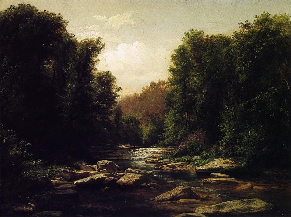 Pennsylvania Mounain Stream 1868 | George Hetzel | oil painting