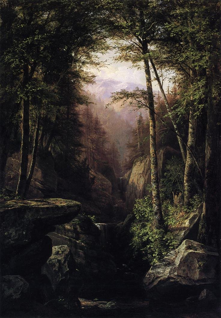 Rocky Gorge 1869 | George Hetzel | oil painting