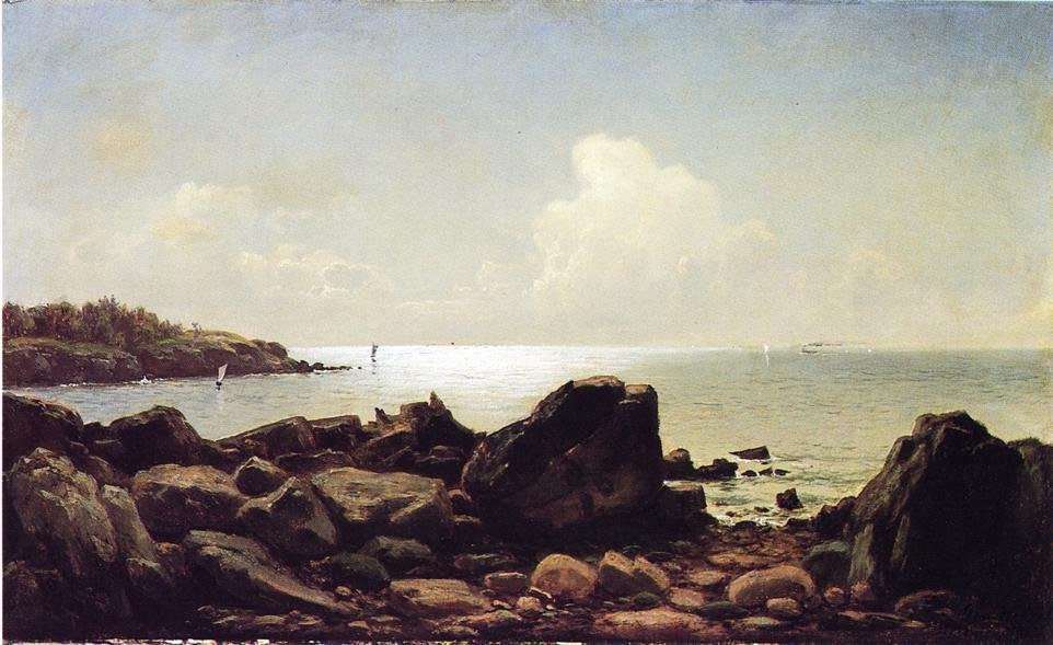 Rocky Inlet Maine 1884 1883 | George Hetzel | oil painting
