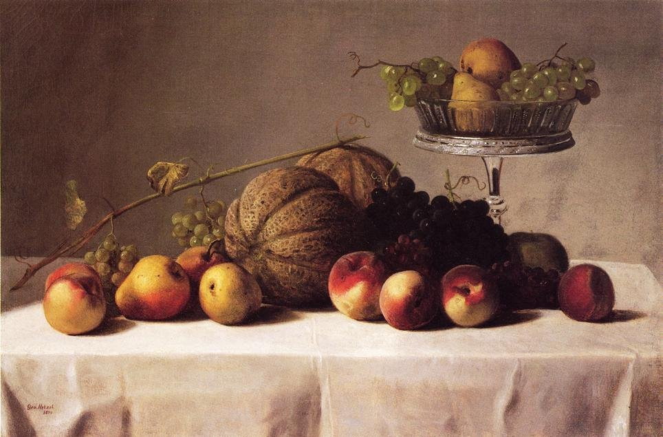 Still Life of Summer Fruit 1879 | George Hetzel | oil painting