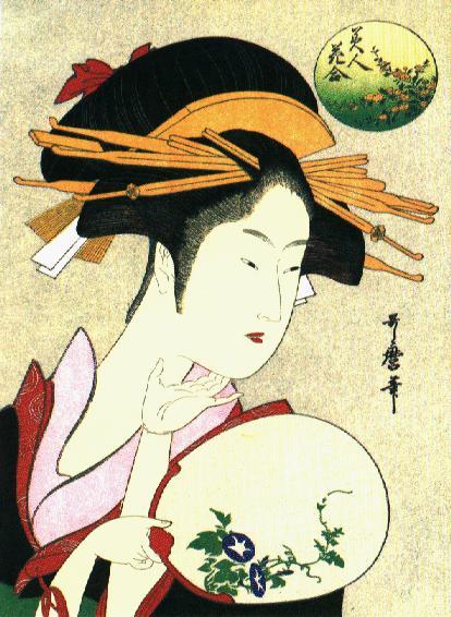 A Beautiful Woman   Katsushita Hokusai   oil painting