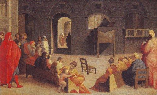 San Bernardino Of Siena Preaching | Domenico Beccafumi | oil painting