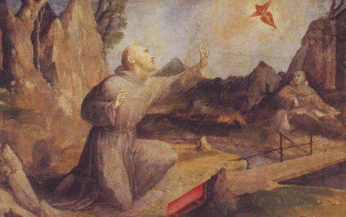 St Francis Receiving The Stigmata | Domenico Beccafumi | oil painting